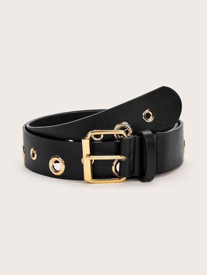 Eyelet Decor Buckle Belt