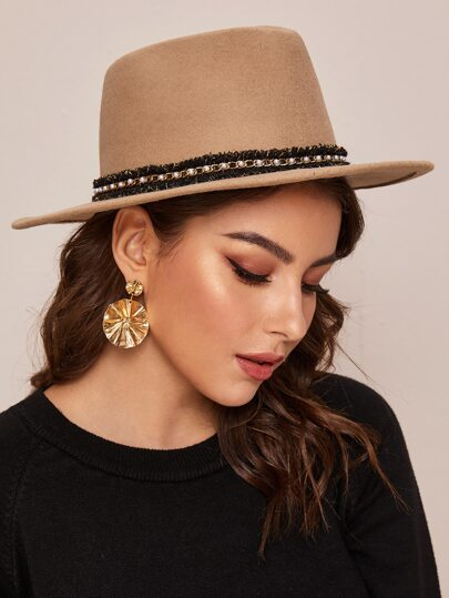 Chain Decor Fedora Hat