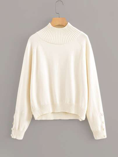 Raglan Sleeve High Low Jumper