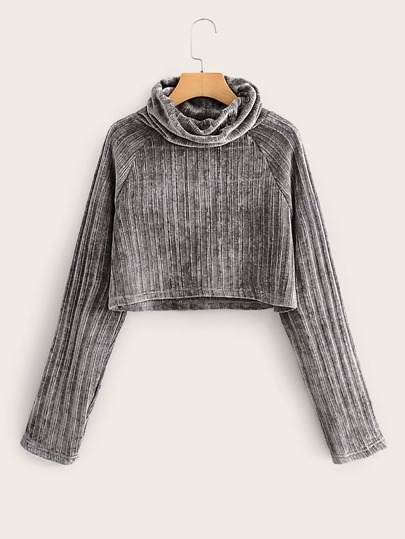 Raglan Sleeve Chenille Sweater