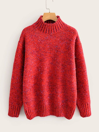 Space Dye Rib-knit Trim Jumper