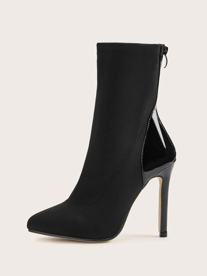 Point Toe Stiletto Heeled Boots