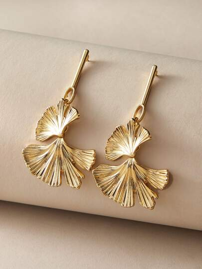 1pair Ginkgo Biloba Drop Earrings