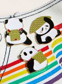 3pcs Panda Shaped Brooch
