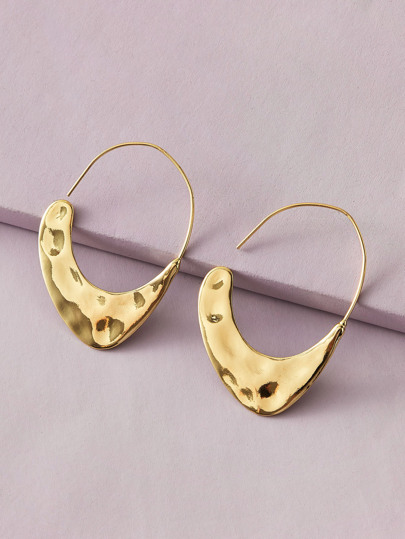 1pair Irregular Geometric Earrings
