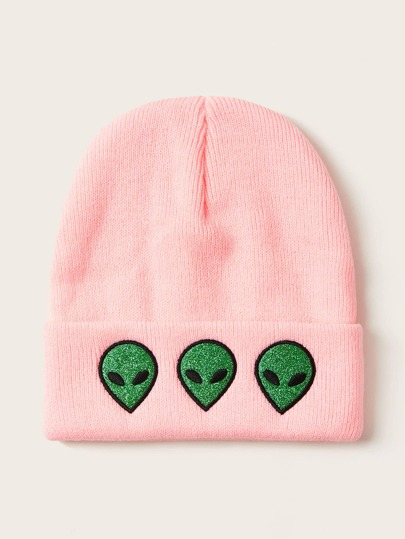 Alien Decor Knitted Beanie