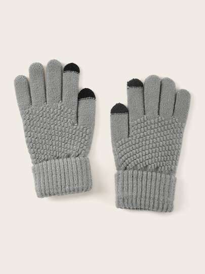 Cuffed Knitted Gloves