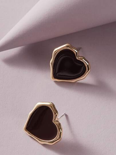 1pair Heart Stud Earrings