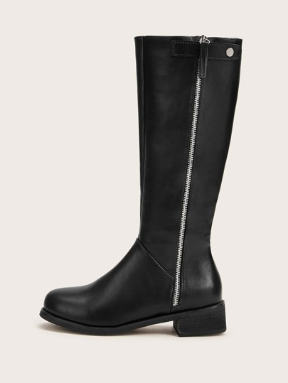 Side Zip Knee High Boots