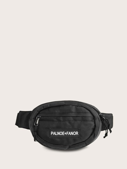 Letter Patch Decor Fanny Pack