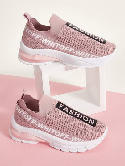 Letter Graphic Slip On Sneakers