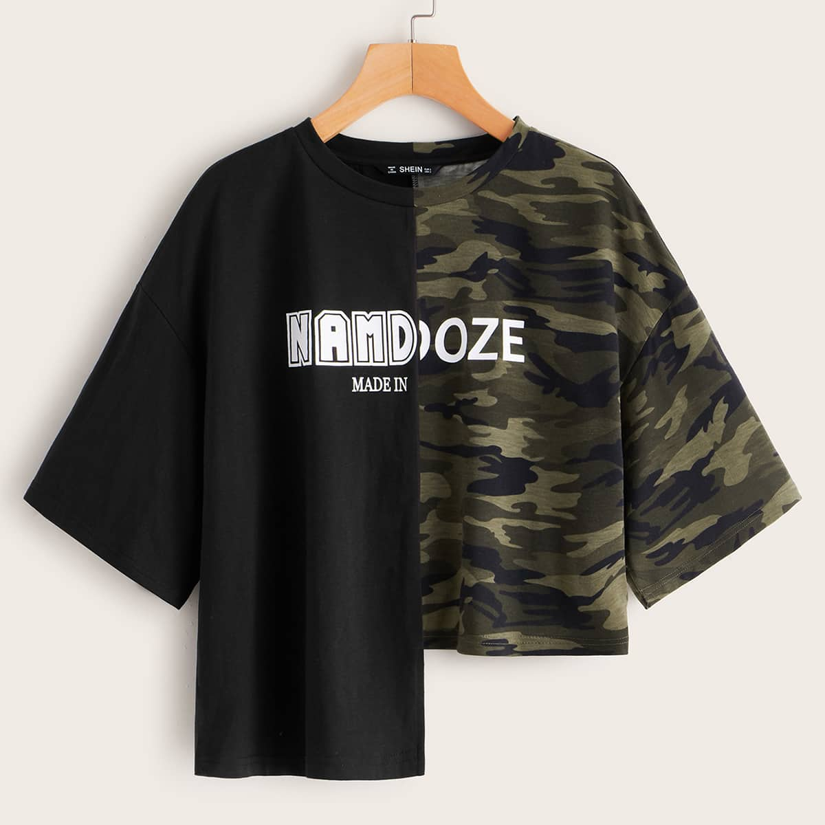 Namdoze Graphic Stepped Hem Tee