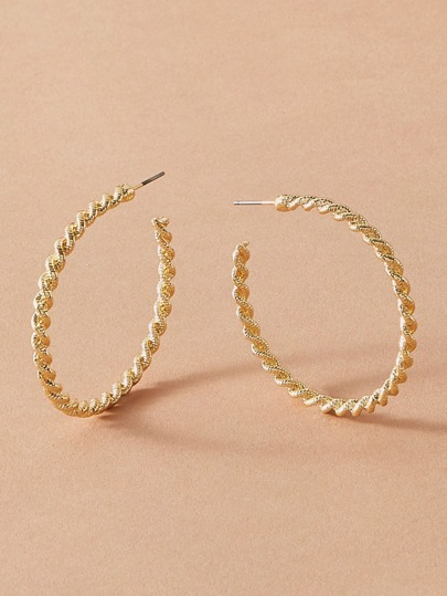 1pair Cuff Hoop Earrings