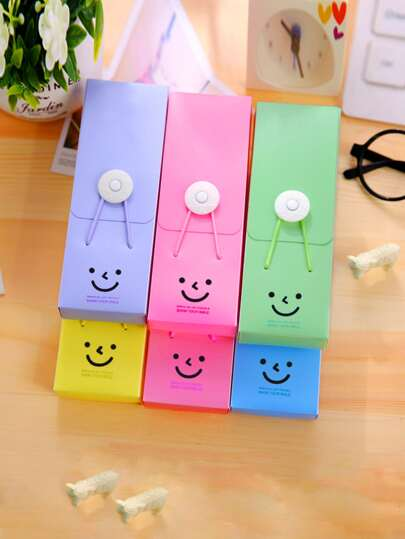 1pc Smile Tower Buckle Pencil Case