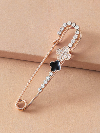 1pc Rhinestone Decor Brooch