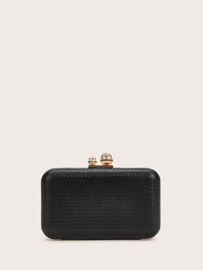 Clip Top Chain Clutch Bag