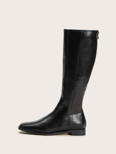 Zip Back Knee Length Riding Boots