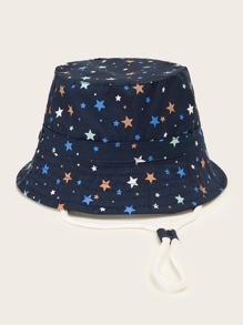 toddler kids star pattern bucket hat