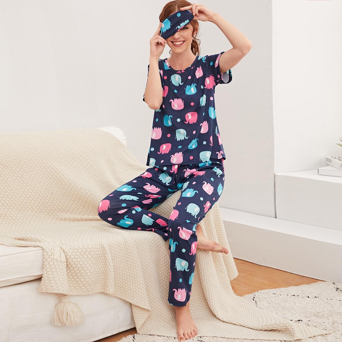 Пижама с принтом слона