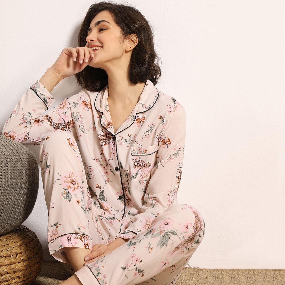 Пижама с оригинальным принтом