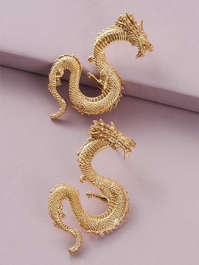 1pair Dragon Stud Earrings