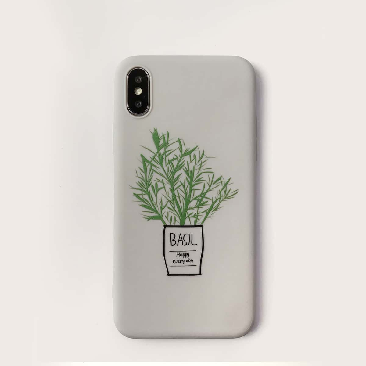 Leaf Print iPhone Case, SHEIN  - buy with discount