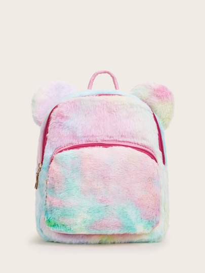 Fluffy Pocket Front Backpack