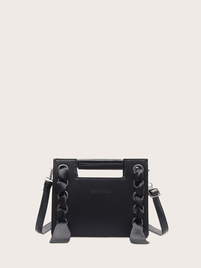 Strap Design Satchel Bag