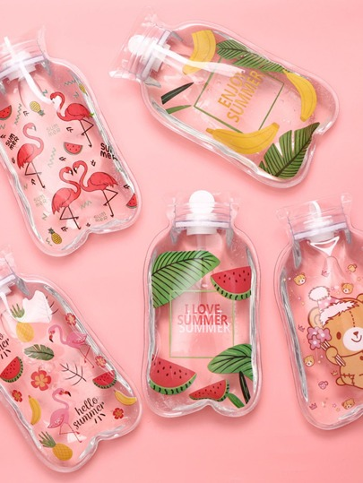 1pc Cartoon Graphic Clear Hot Water Bag