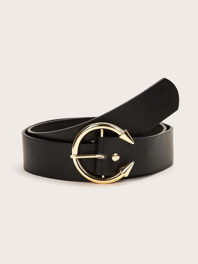 Arrow Buckle PU Belt