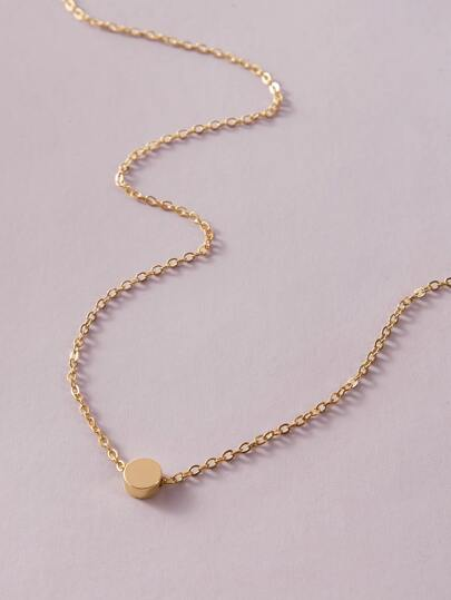 1pc Round Charm Necklace