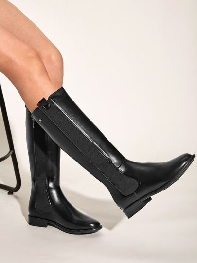 Zip Back Knee High Boots