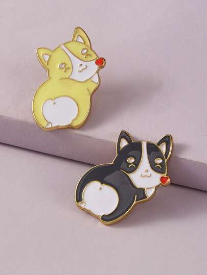 2pcs Dog Design Brooch