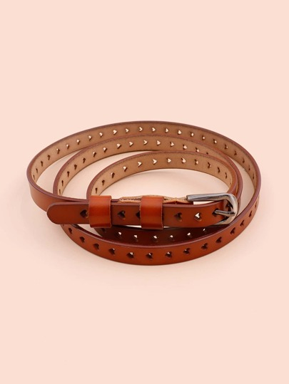 Hollow Out Metal Buckle Belt