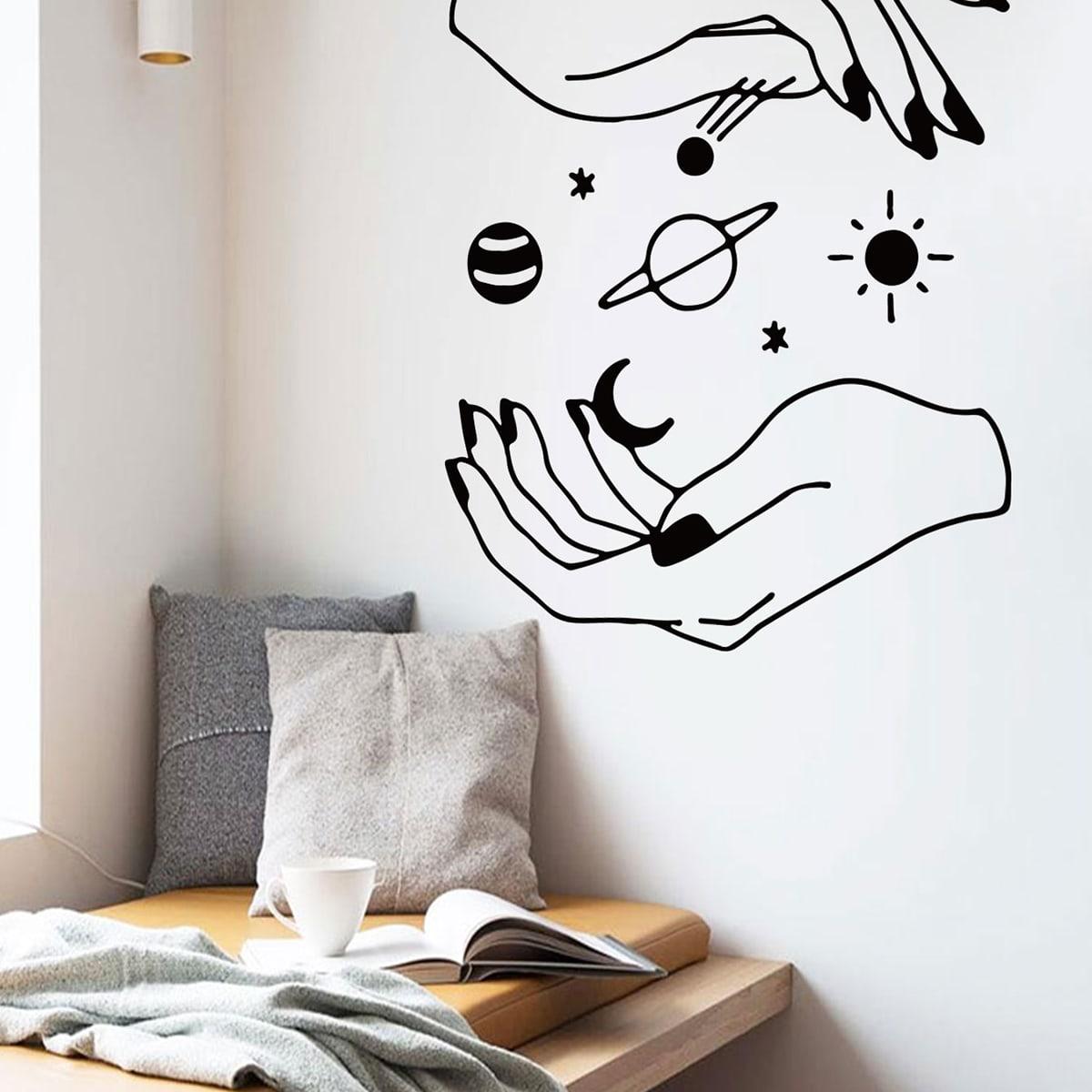 Wandaufkleber mit Hand & Stern Muster