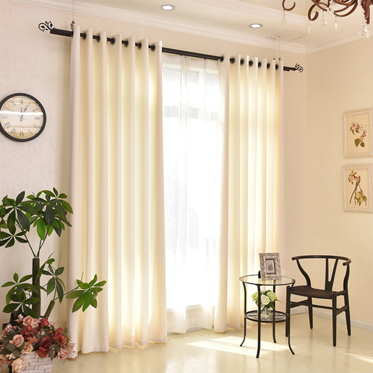 Einfarbige Vorhang mit Öse 1 Stück