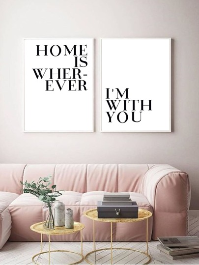 1pc Slogan Graphic Wall Art Without Frame