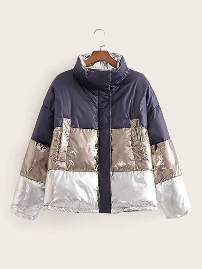 Cut And Sew Puffer Coat