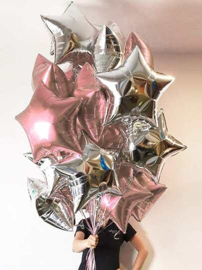 6pcs Star Shaped Aluminum Foil Balloon
