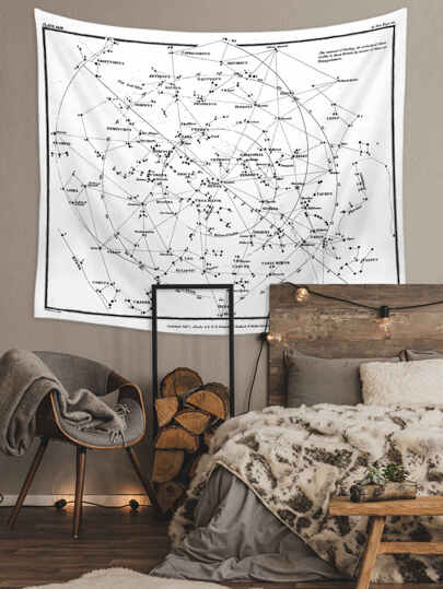Constellation Print Tapestry