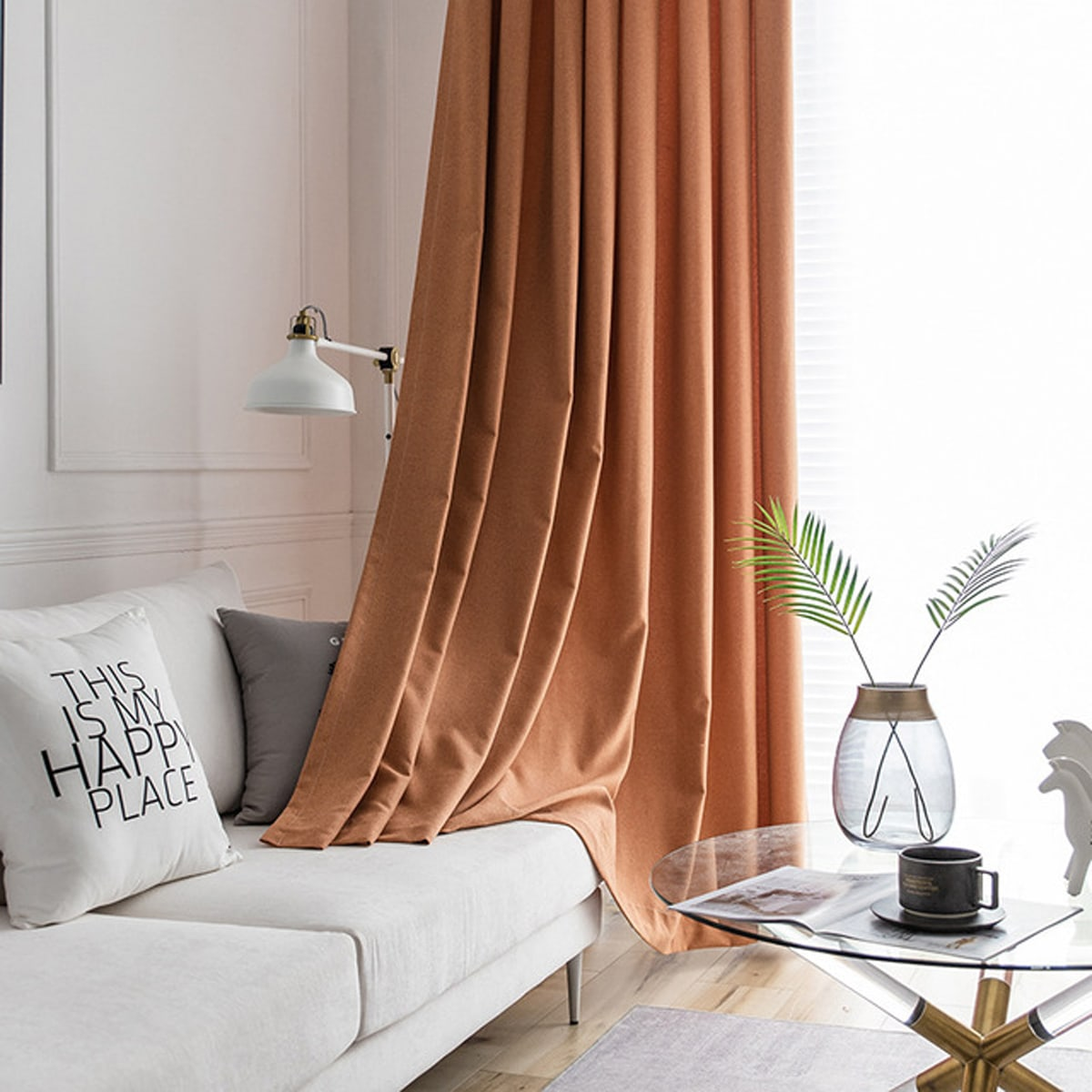 1pc Solid Color Curtain
