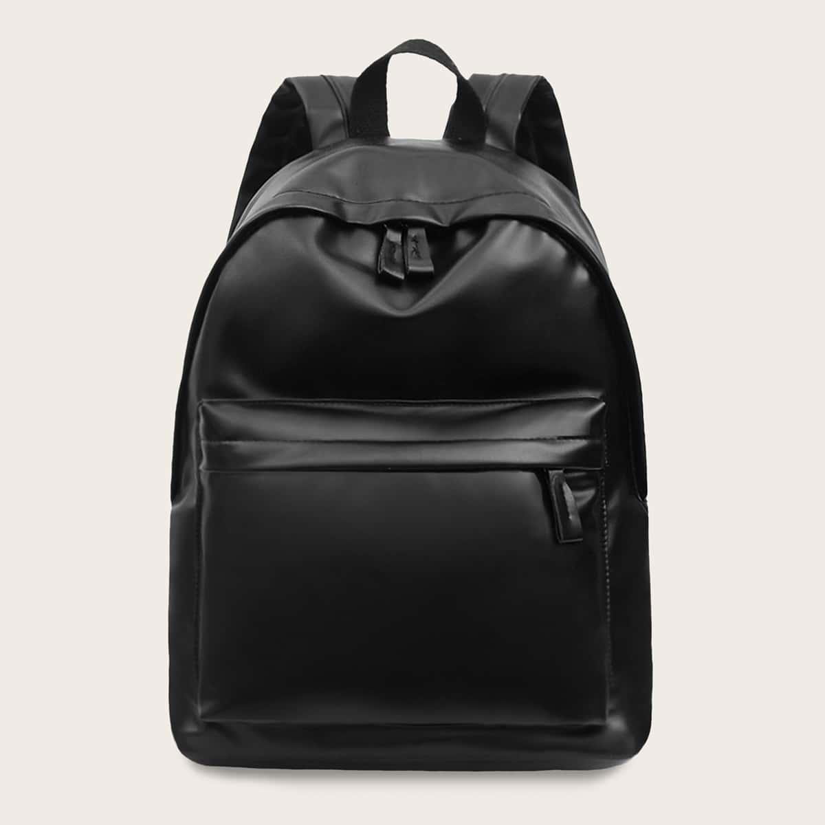 Мужской минималистский рюкзак из искусственной кожи от SHEIN