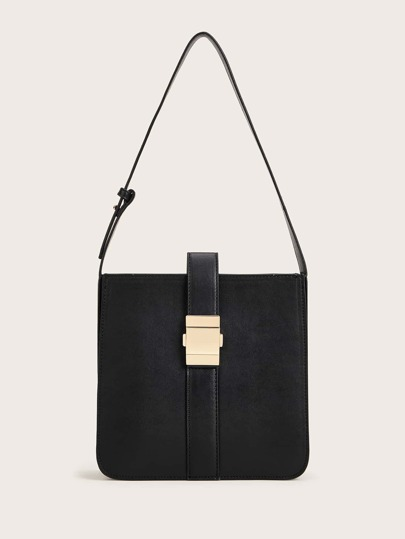 Minimalist Metal Lock Tote Bag