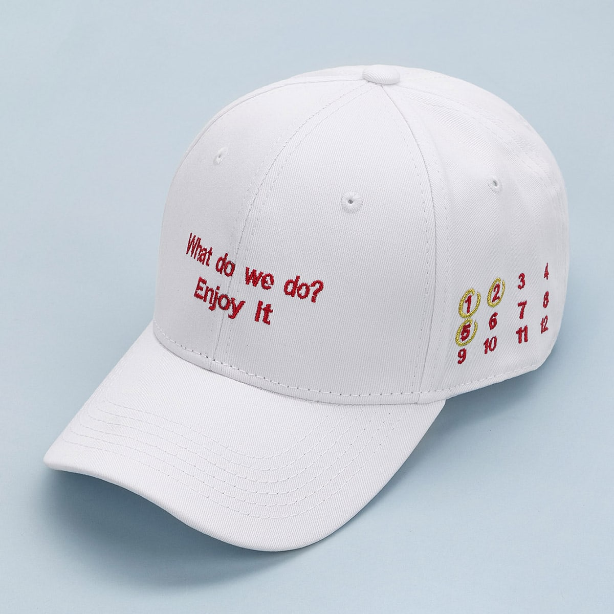 Men Slogan Embroidery Baseball Cap, SHEIN  - buy with discount