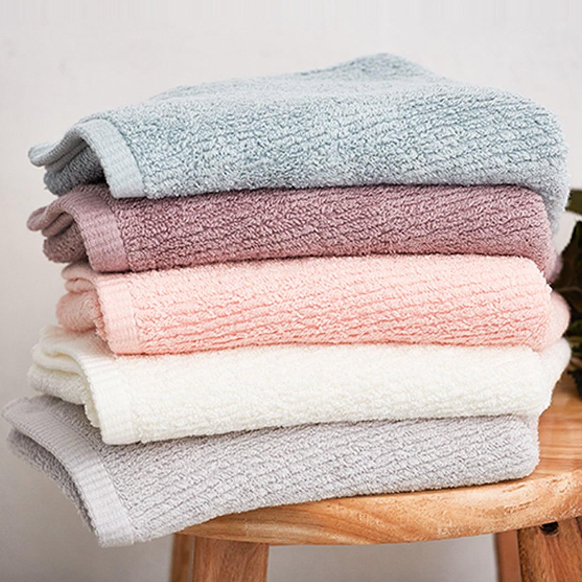 1pc Random Color Solid Towel