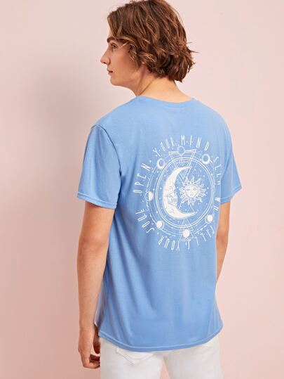 Guys Sun & Moon Graphic Tee