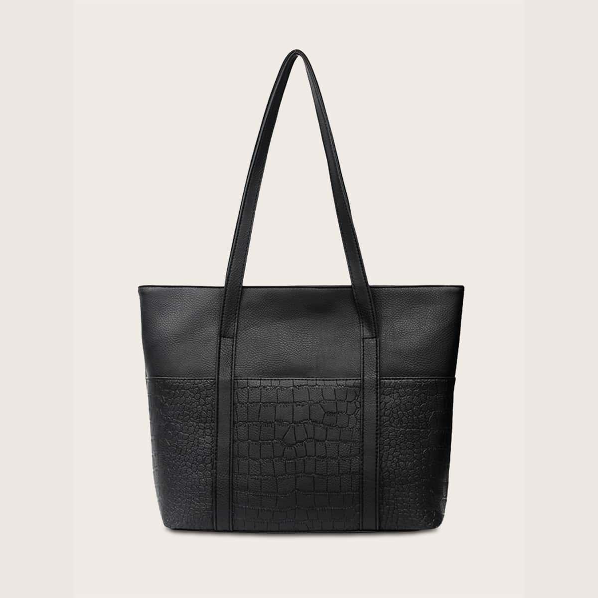 Рельефная сумка-тоут