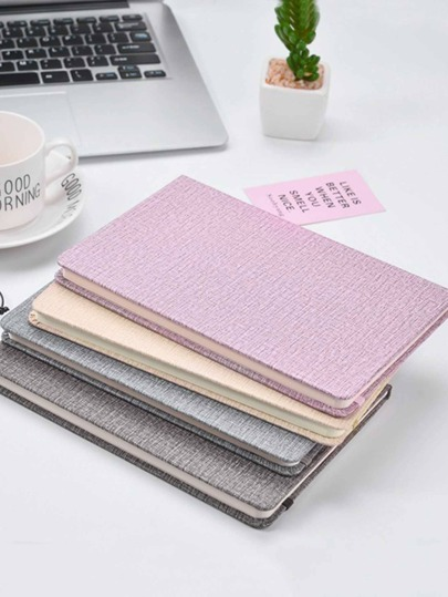 1pack Solid Color Hardcover Notebook