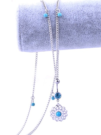 1pc Turquoise Charm Chain Belly Ring