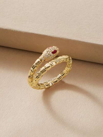 1pc Serpentine Decor Ring